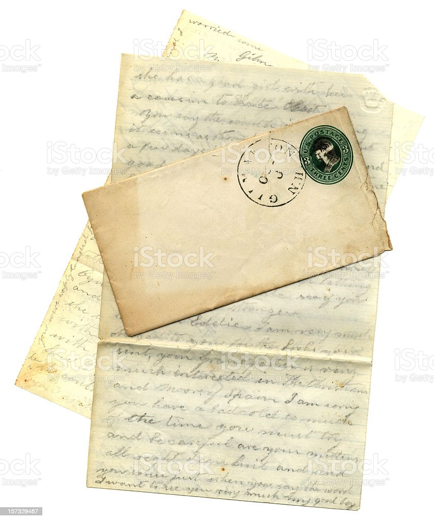 Letter from New Hampshire (1877) royalty-free stock photo