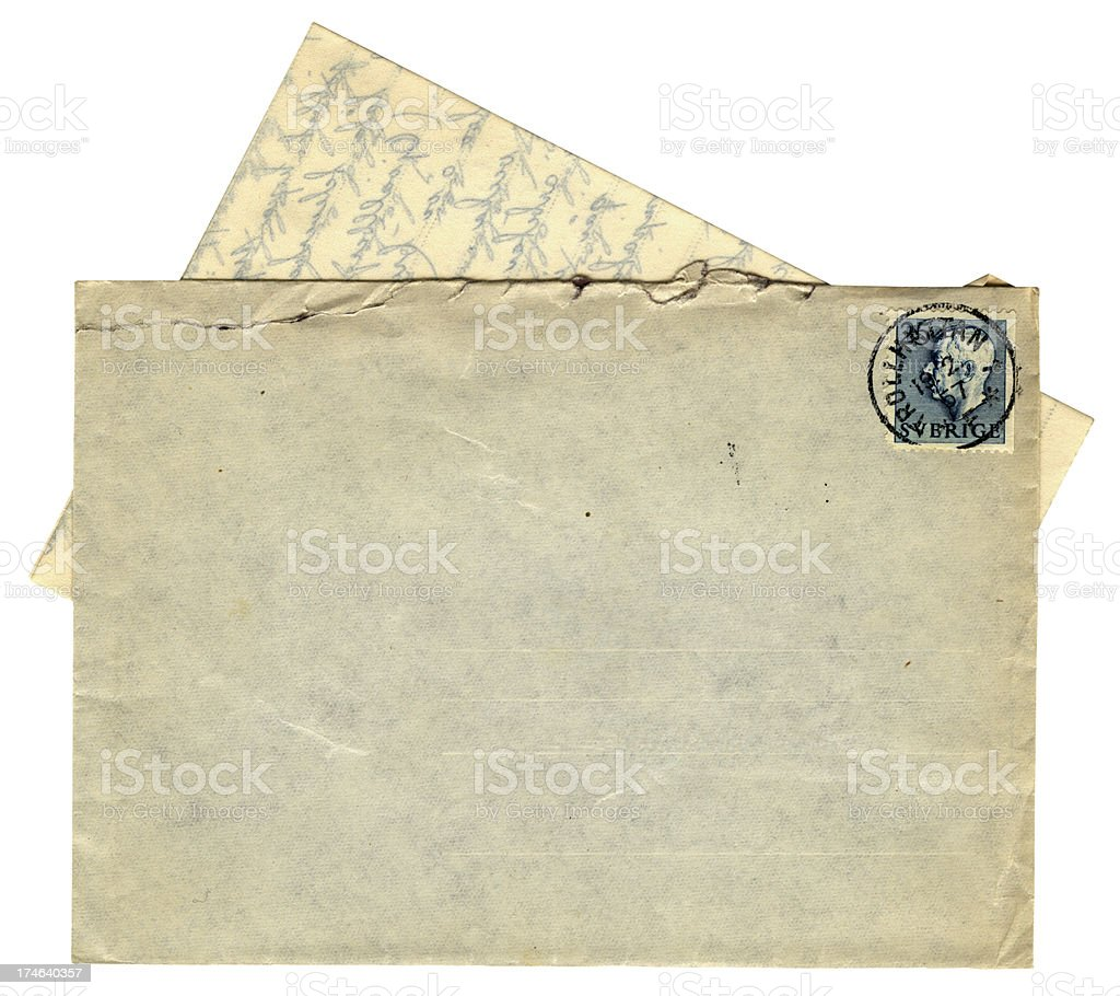 Letter from Sweden 1957 royalty-free stock photo