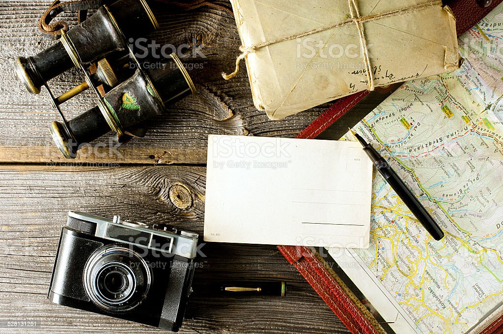 letter from travel stock photo