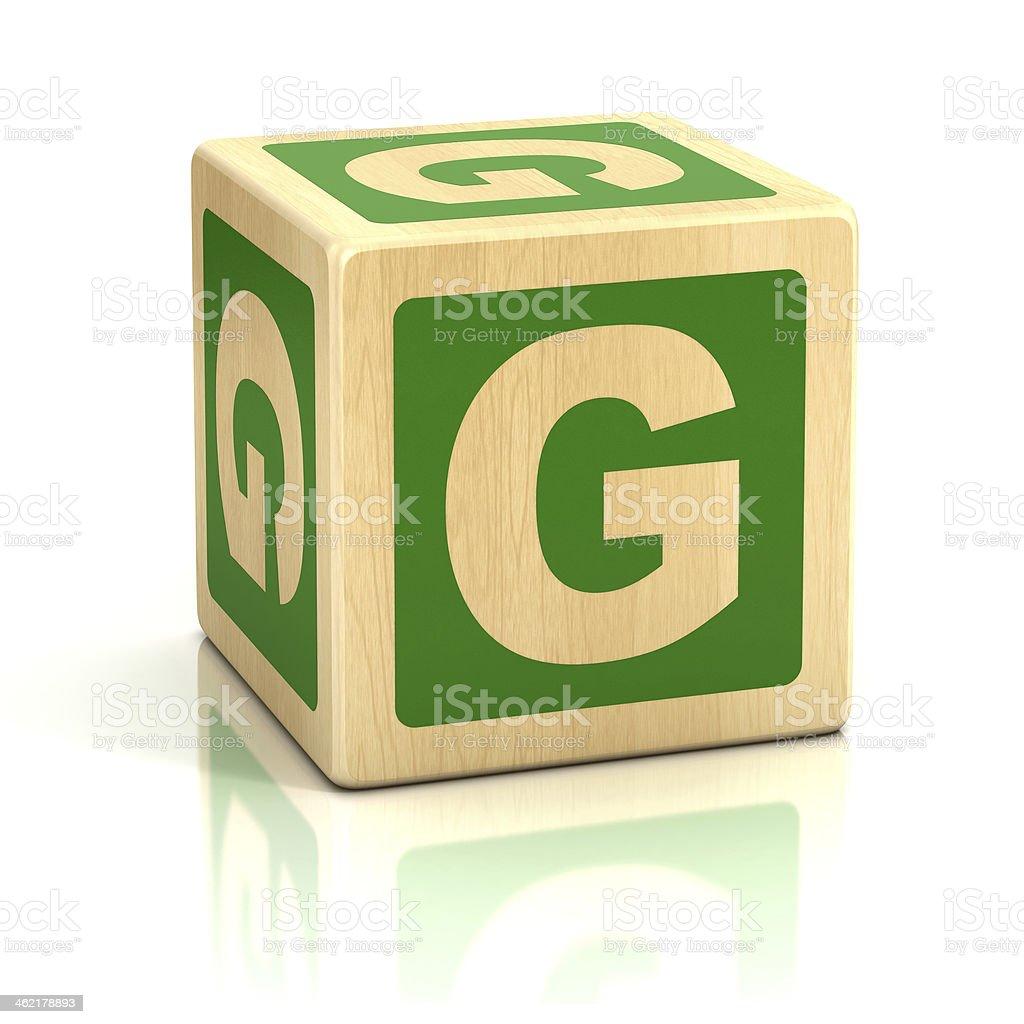 letter G alphabet cubes font stock photo