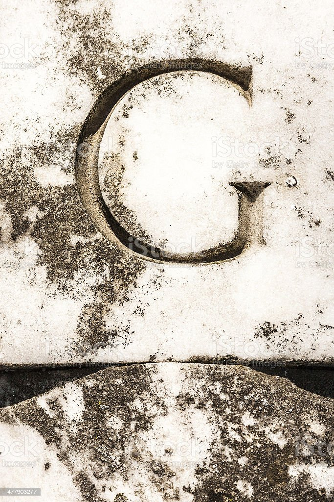 Letter G in Marble royalty-free stock photo