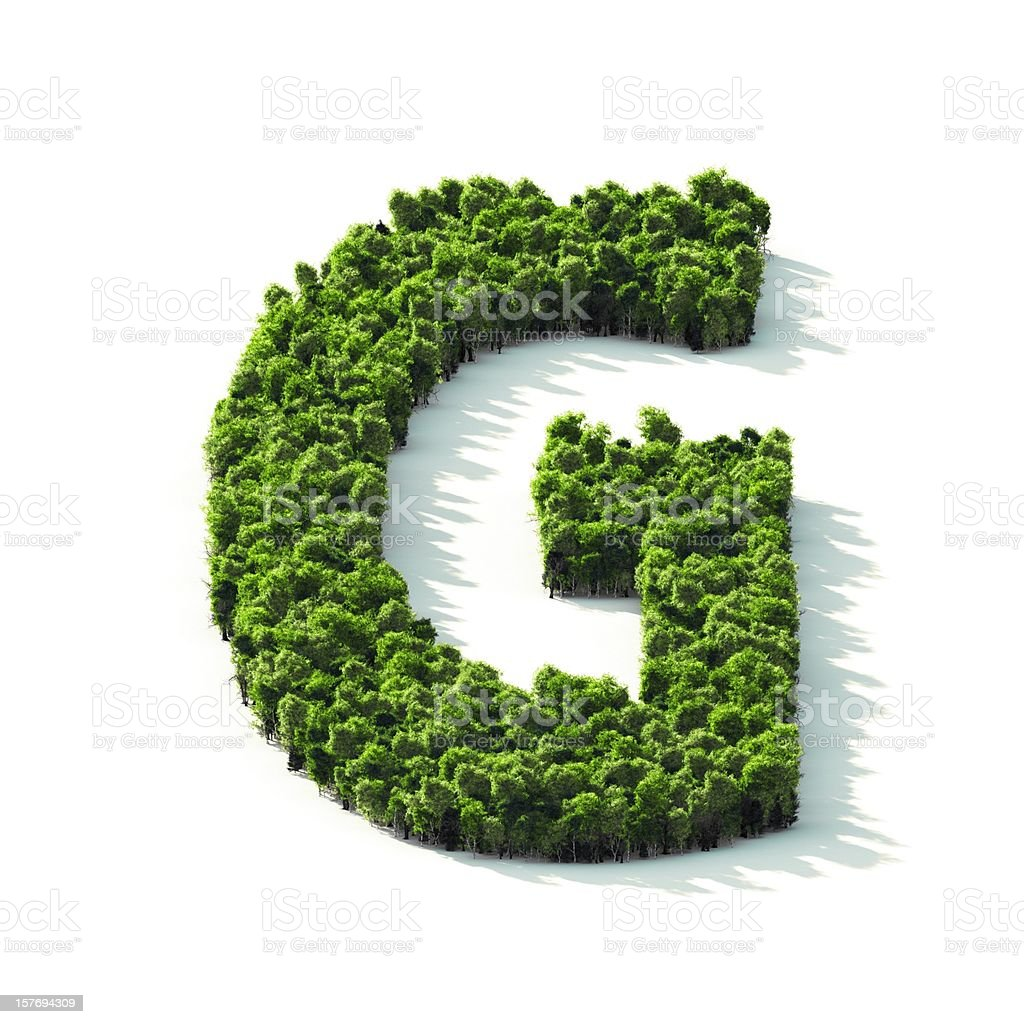 Letter G : Perspective View stock photo