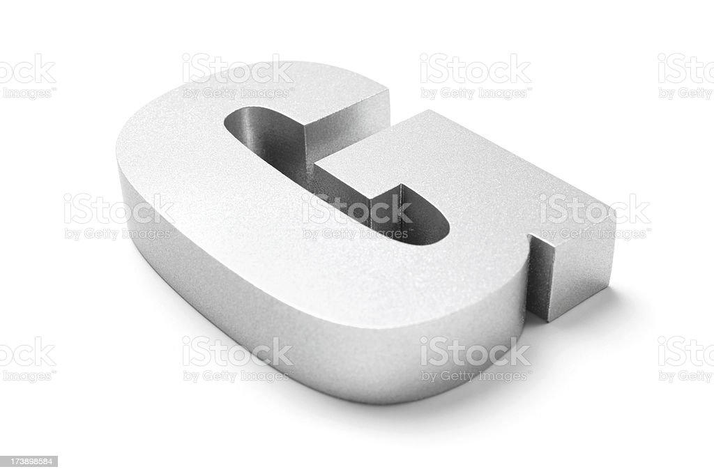 Letter G royalty-free stock photo