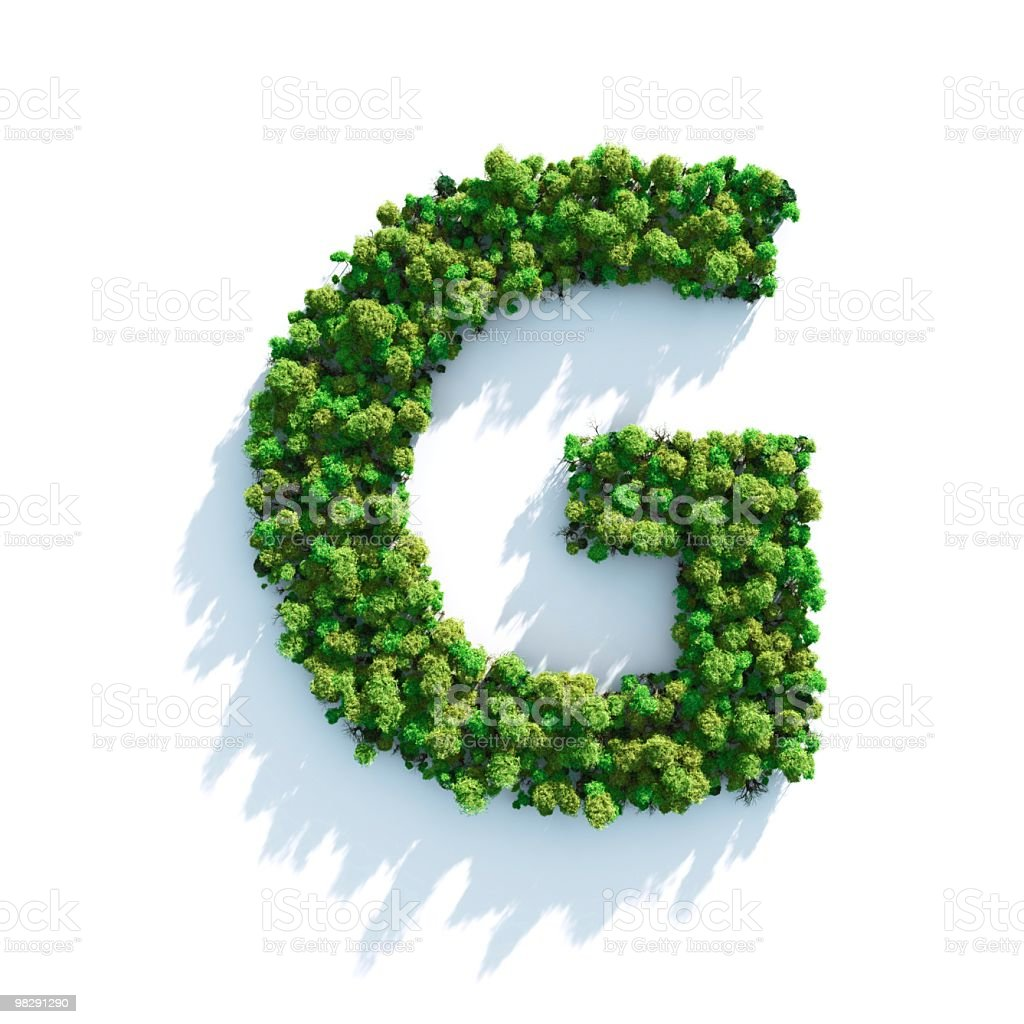 Letter G: Top View royalty-free stock photo