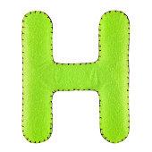 Letter H from felt