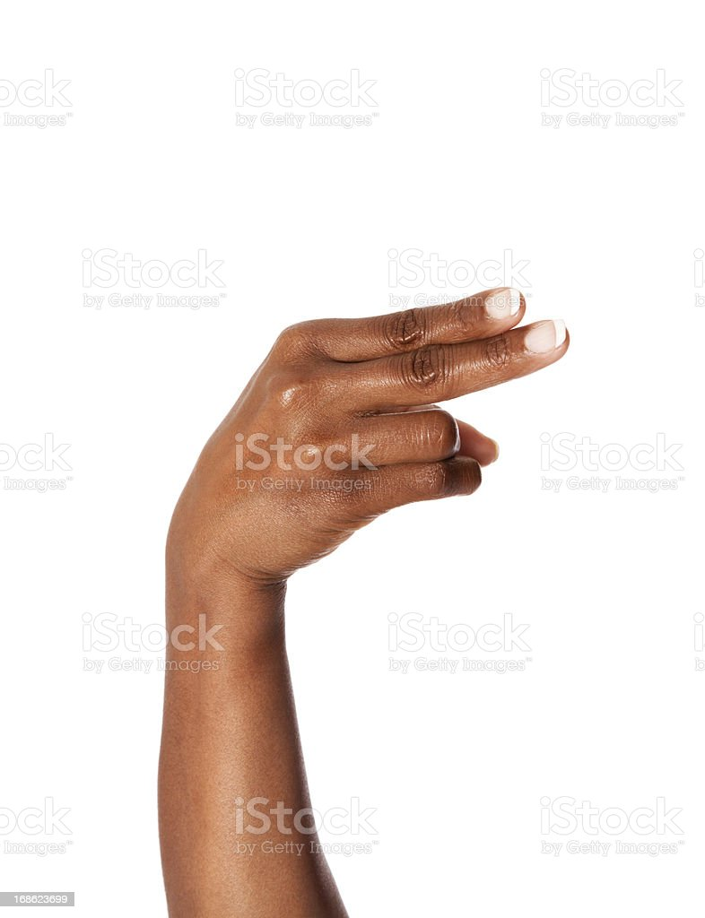 Letter H in American Sign Language royalty-free stock photo