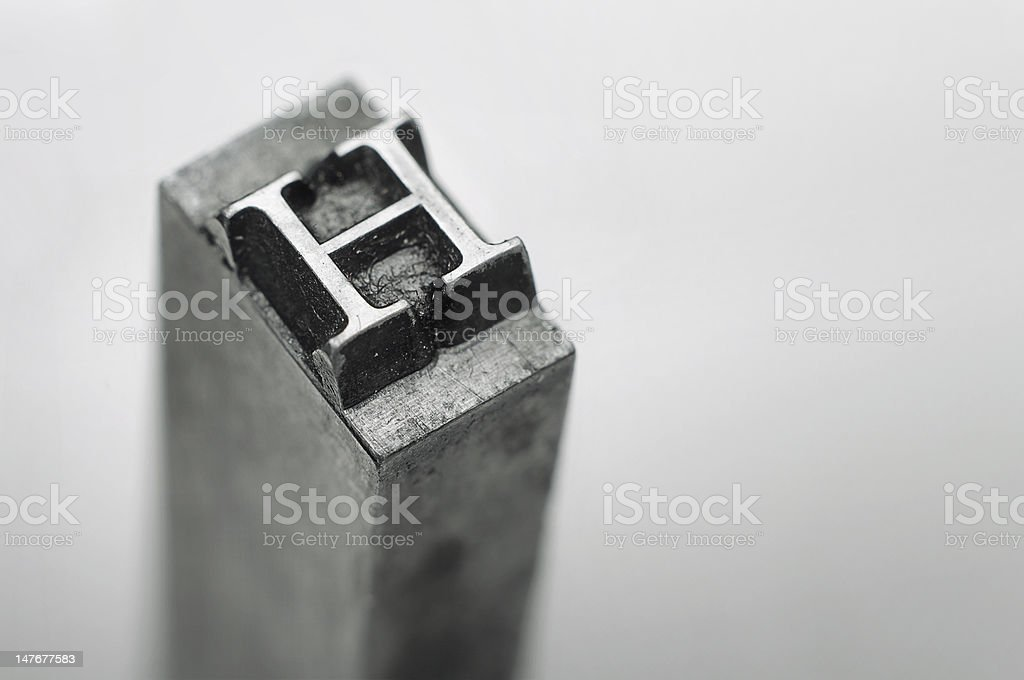 Letter 'H' stock photo