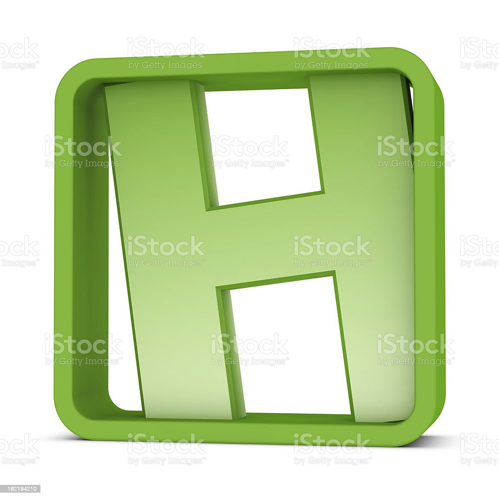 Letter H royalty-free stock photo