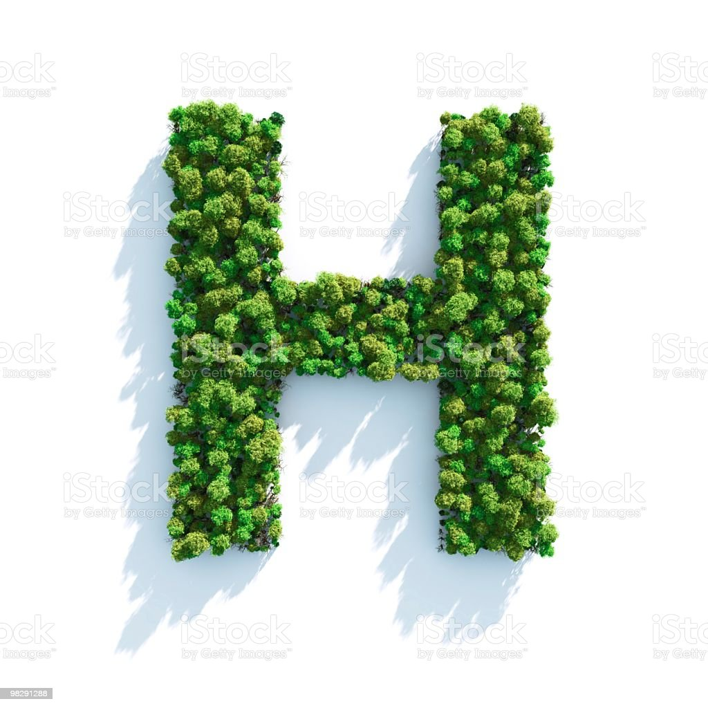 Letter H: Top View royalty-free stock photo