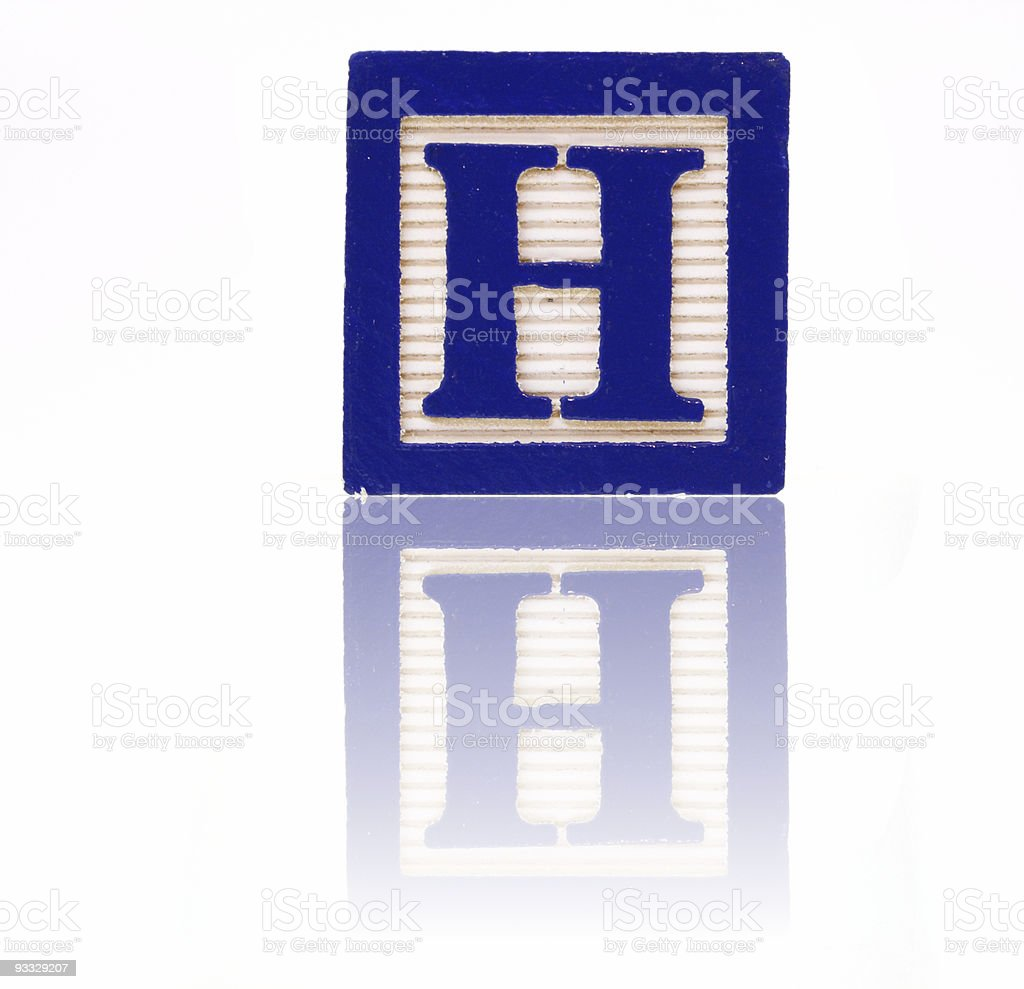 letter h -  toy block series royalty-free stock photo
