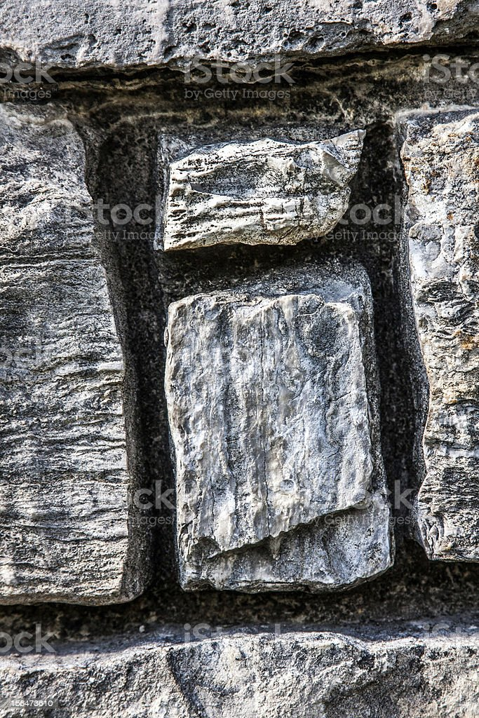 Letter I in Stone Wall royalty-free stock photo