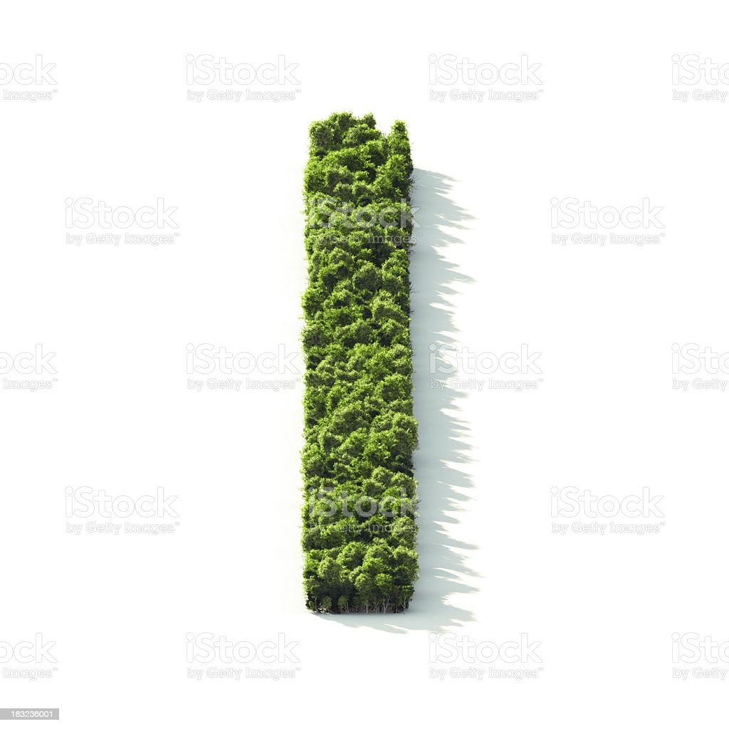 Letter I : Perspective View royalty-free stock photo