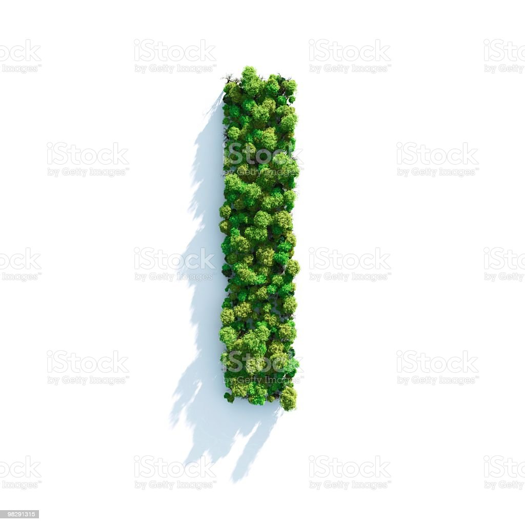 Letter I: Top View royalty-free stock photo