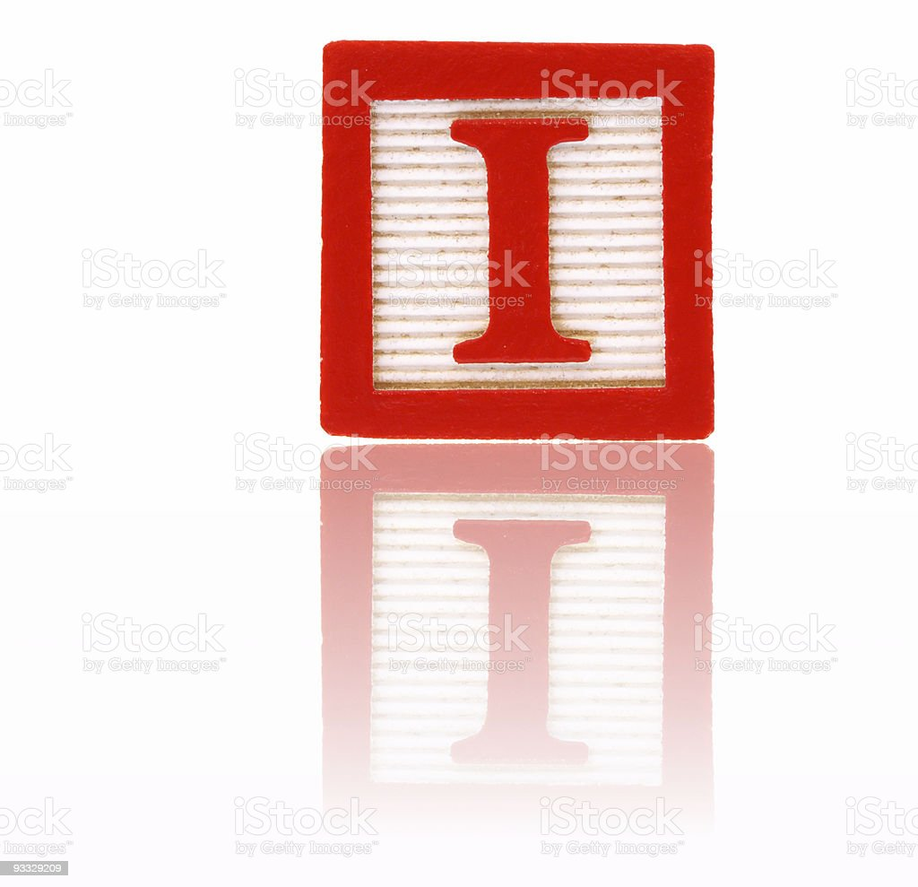 letter i -  toy block series royalty-free stock photo