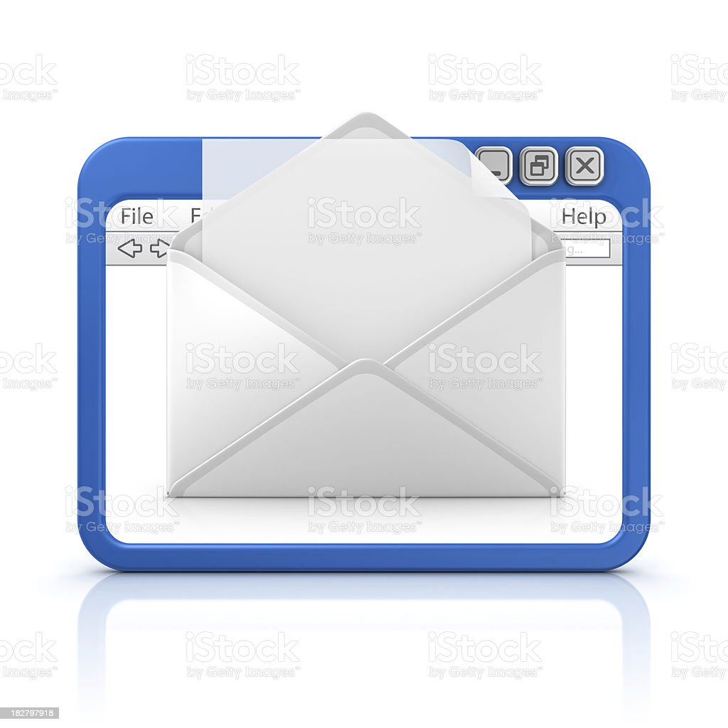 letter in browser royalty-free stock photo
