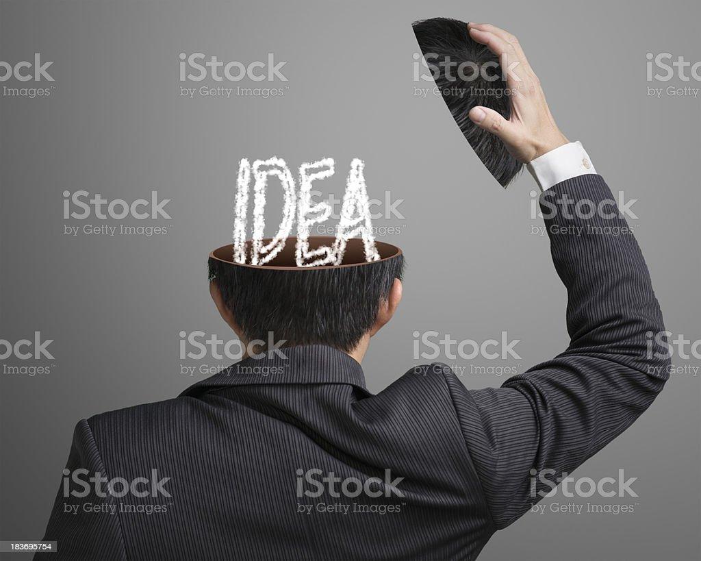 IDEA letter inside businessman head royalty-free stock photo
