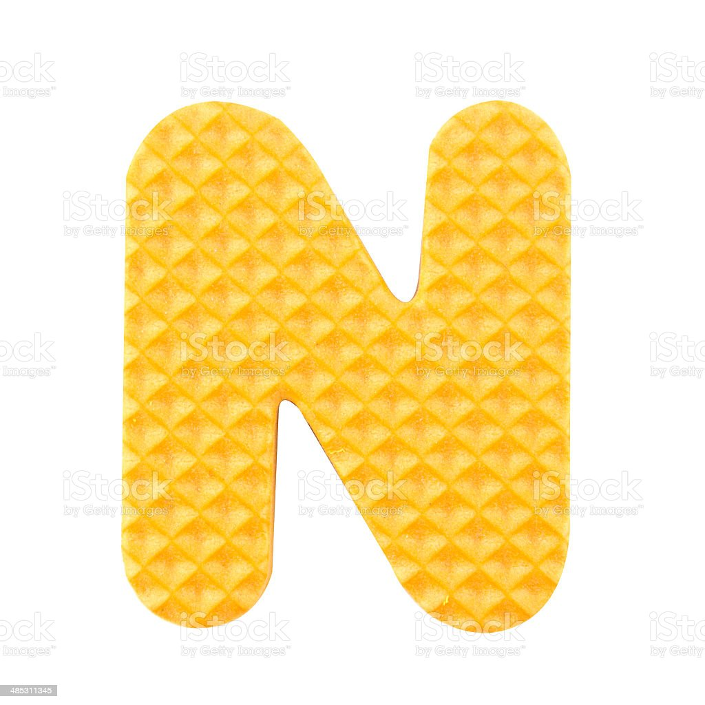 N letter isolated on white background. stock photo