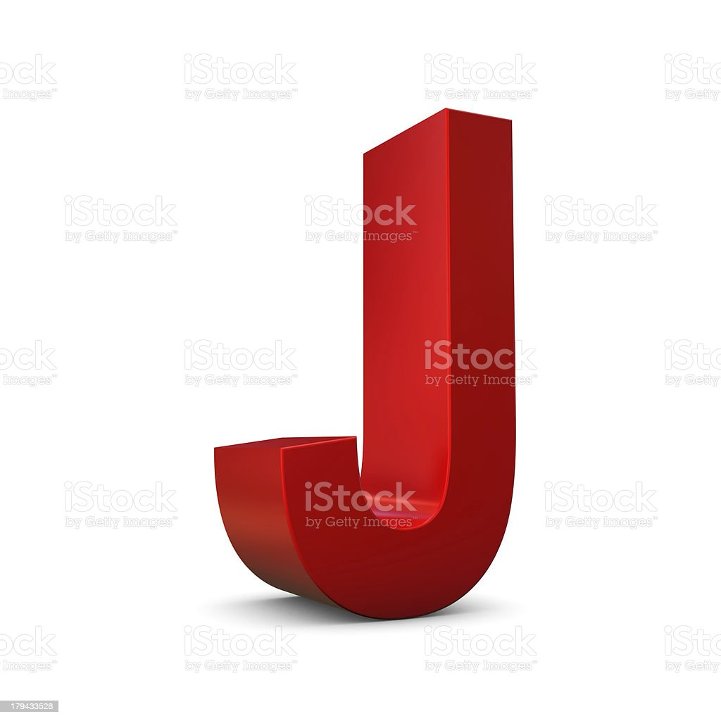 Letter J 3d royalty-free stock photo