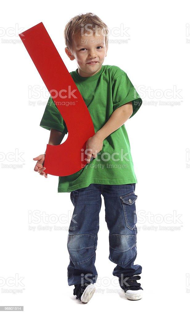 Letter 'J' boy royalty-free stock photo