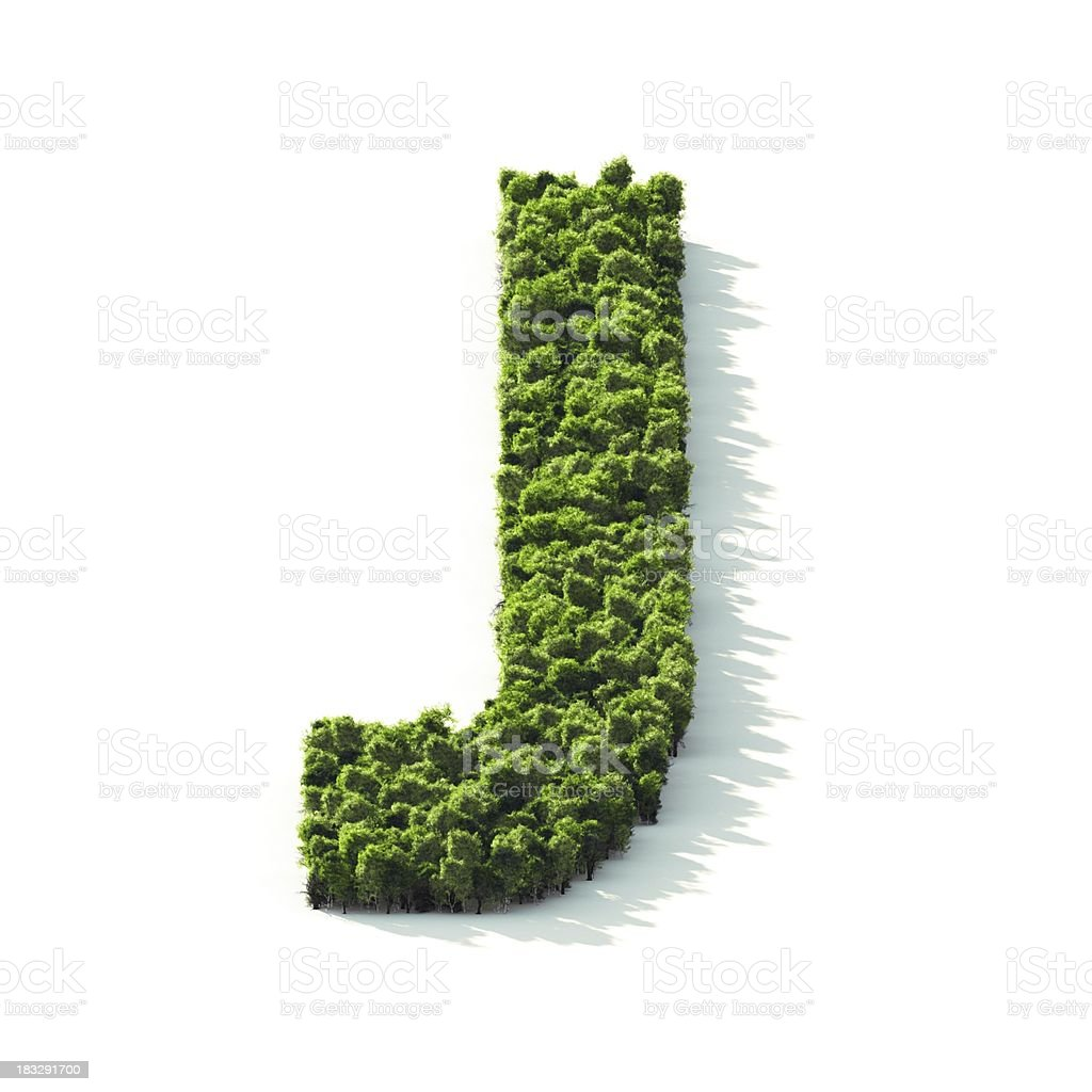 Letter J : Perspective View royalty-free stock photo