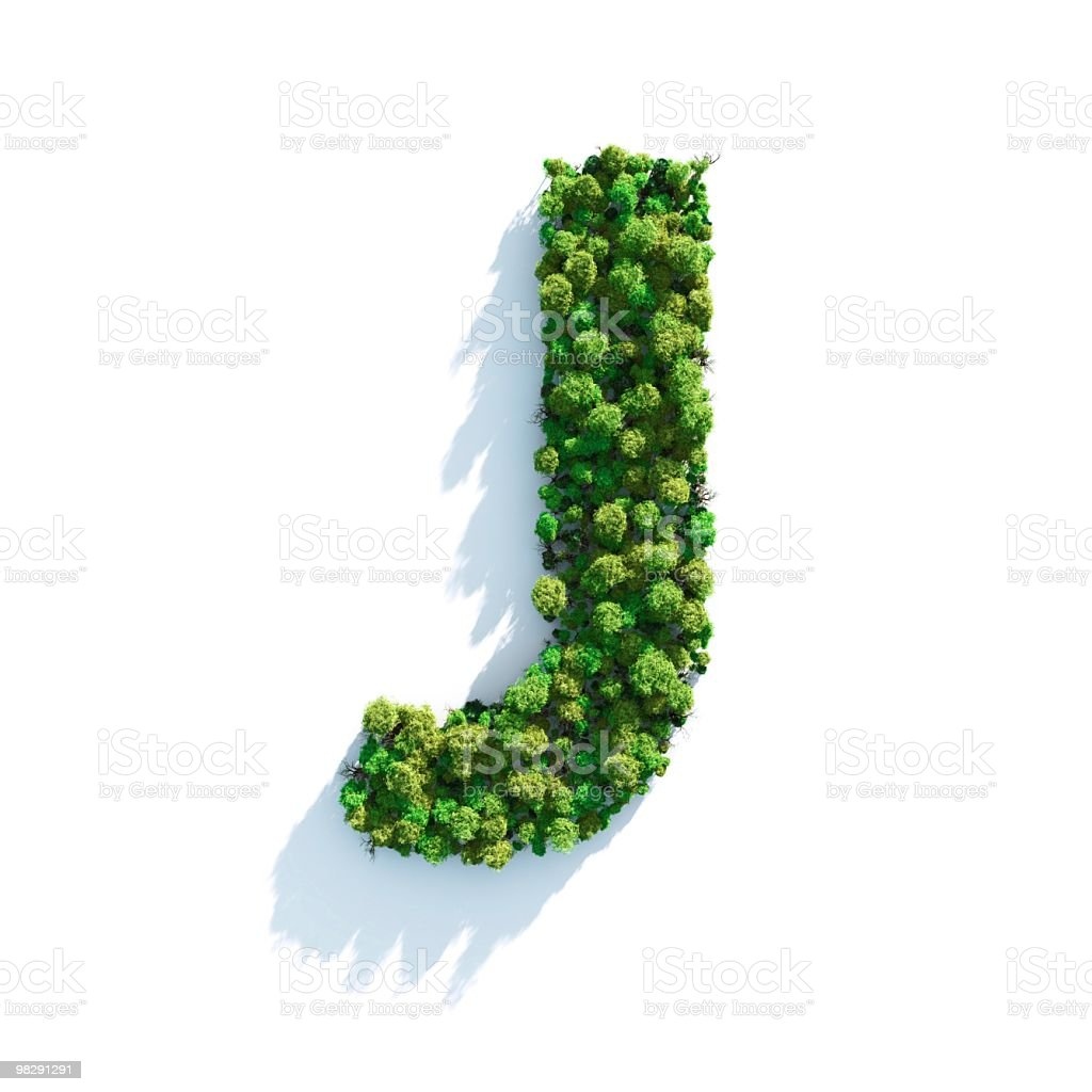 Letter J: Top View royalty-free stock photo