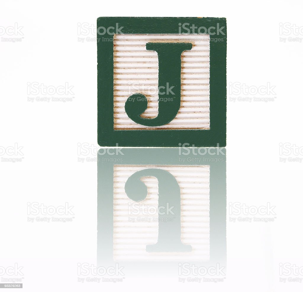 letter j - toy block series royalty-free stock photo
