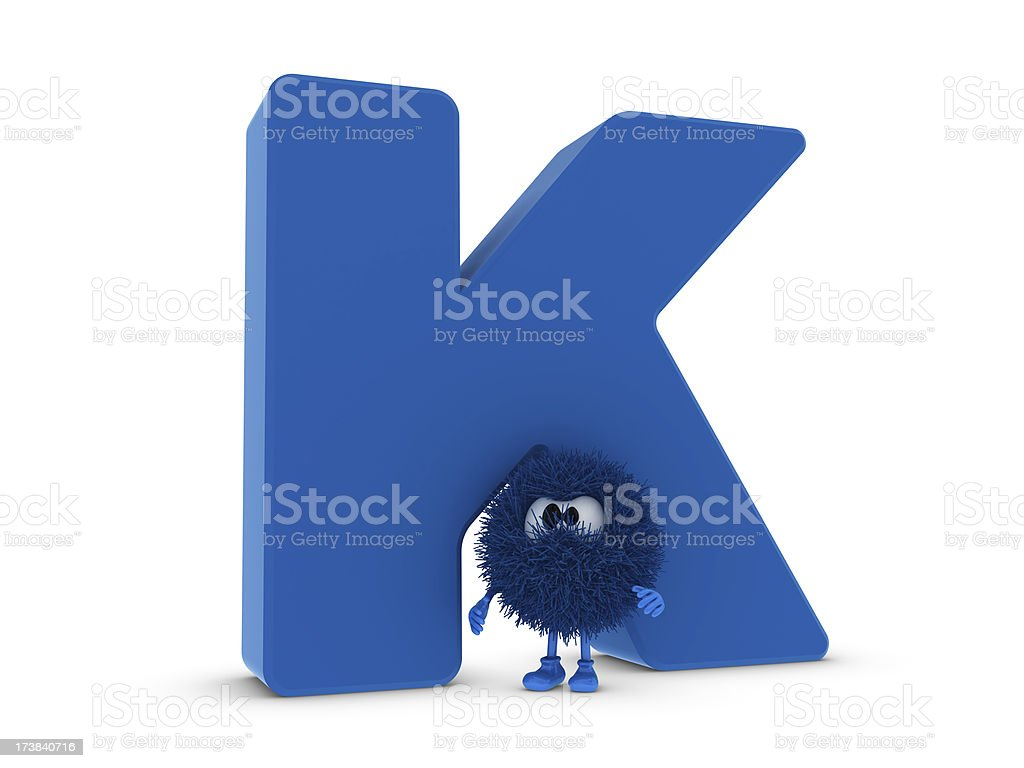 Letter K and Sphefur royalty-free stock photo