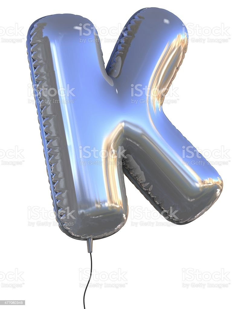 letter K balloon font stock photo