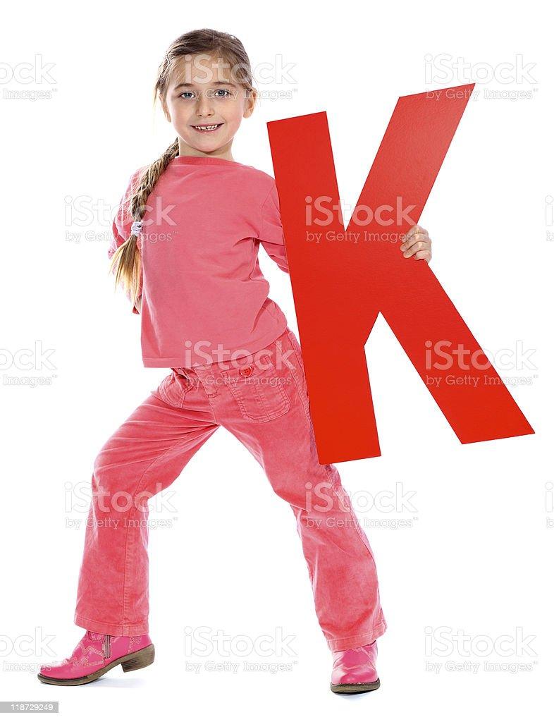 Letter 'K' girl royalty-free stock photo