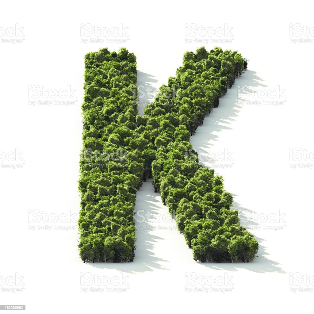 Letter K : Perspective View royalty-free stock photo