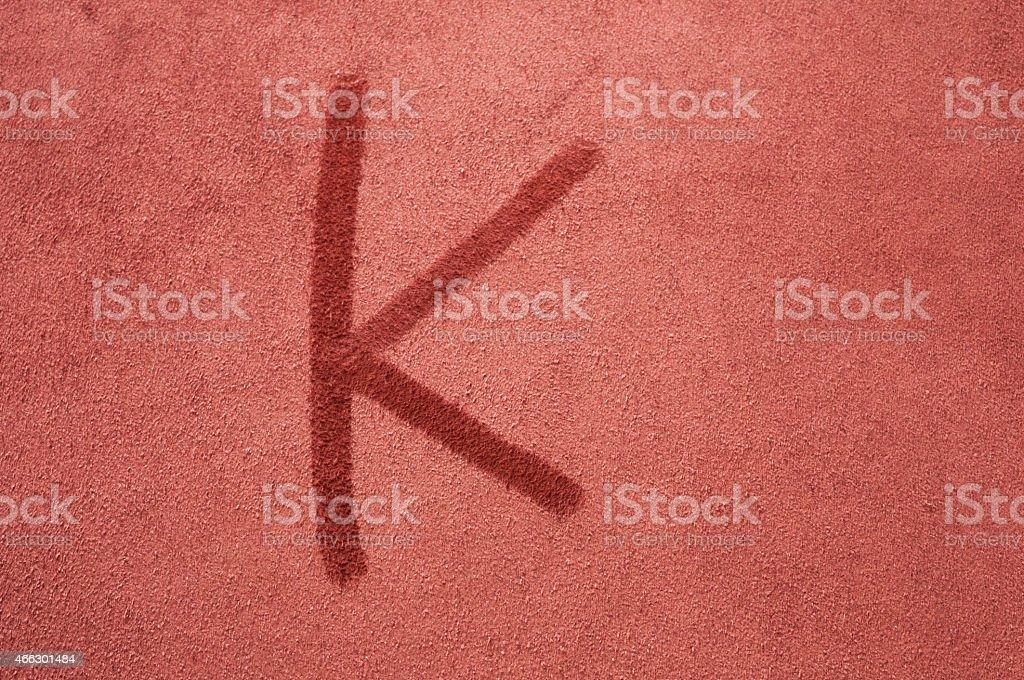 Letter K stock photo