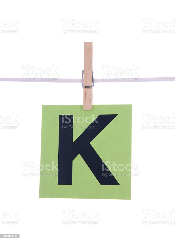 Letter K royalty-free stock photo