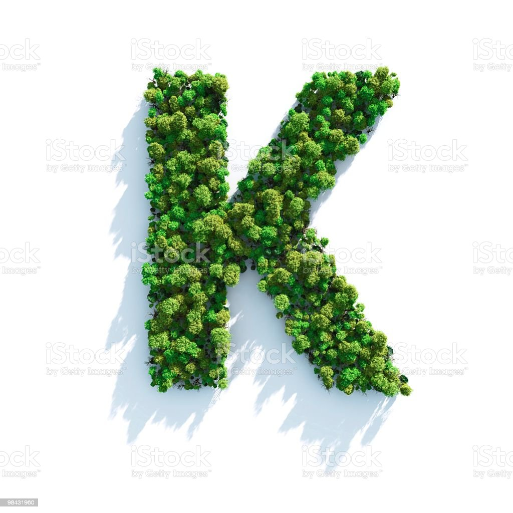 Letter K: Top View royalty-free stock photo