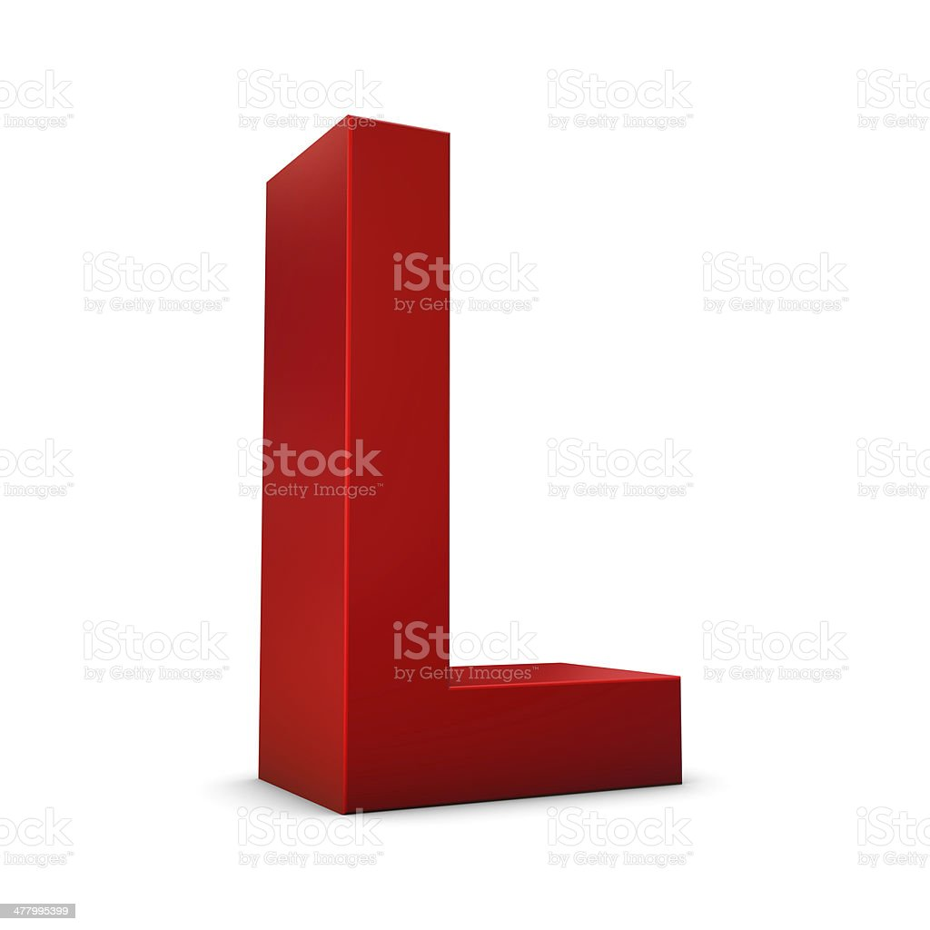 Letter L 3d royalty-free stock photo
