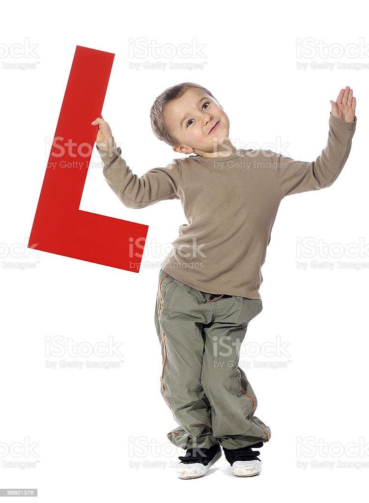 Letter 'L' boy royalty-free stock photo