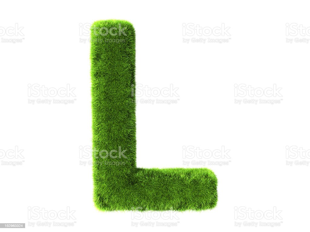 Letter L grass royalty-free stock photo