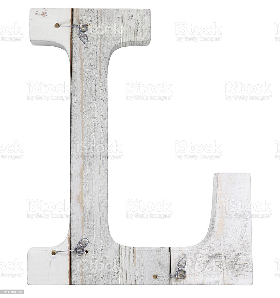 letter l isolated on white background stock photo