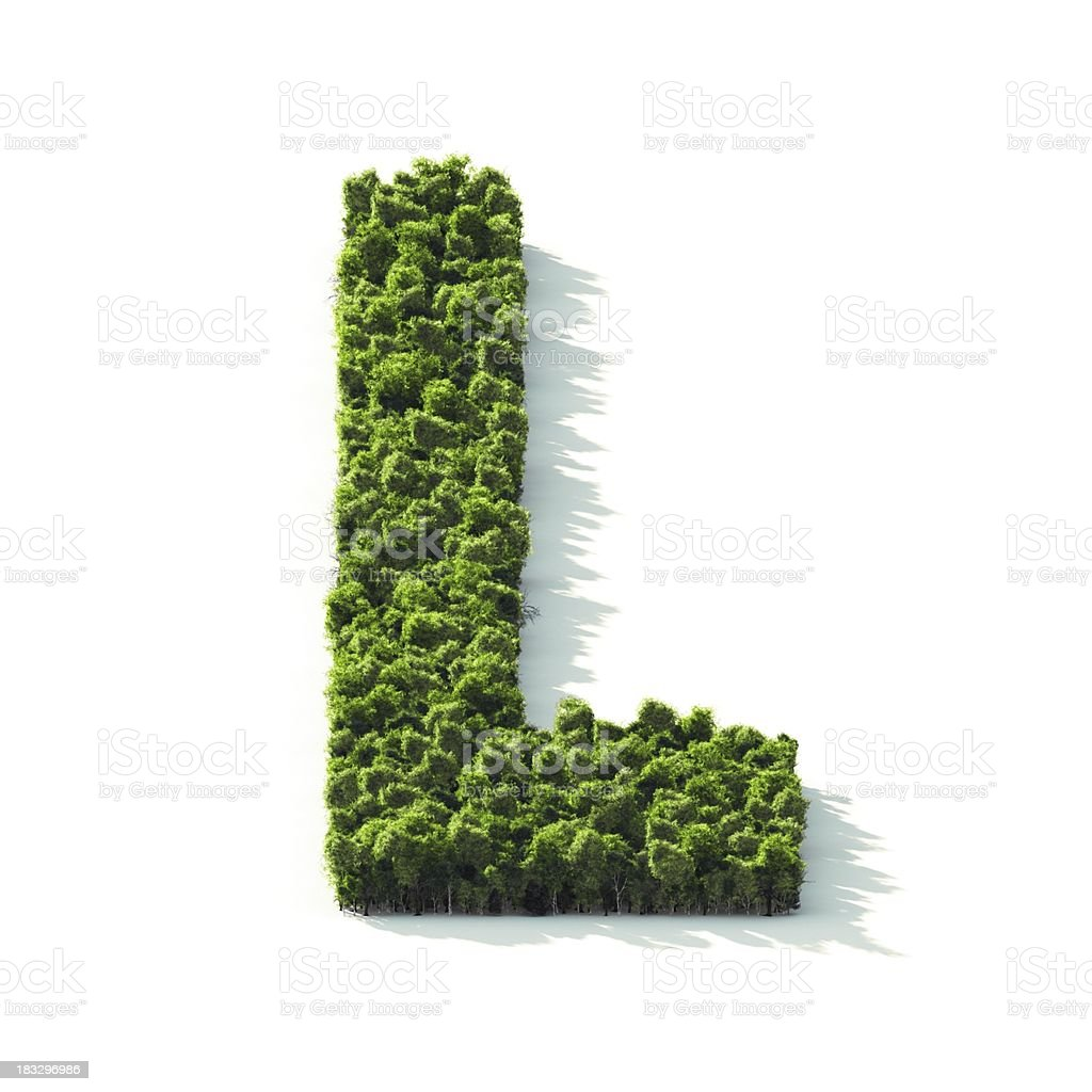 Letter L : Perspective View royalty-free stock photo