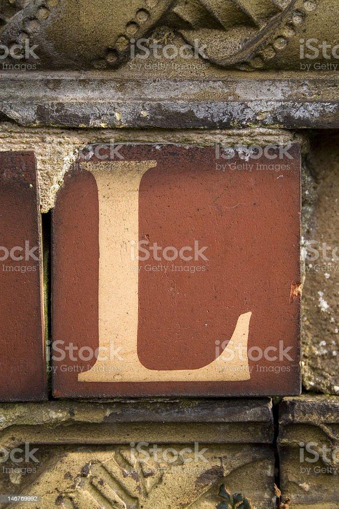 Letter L stock photo