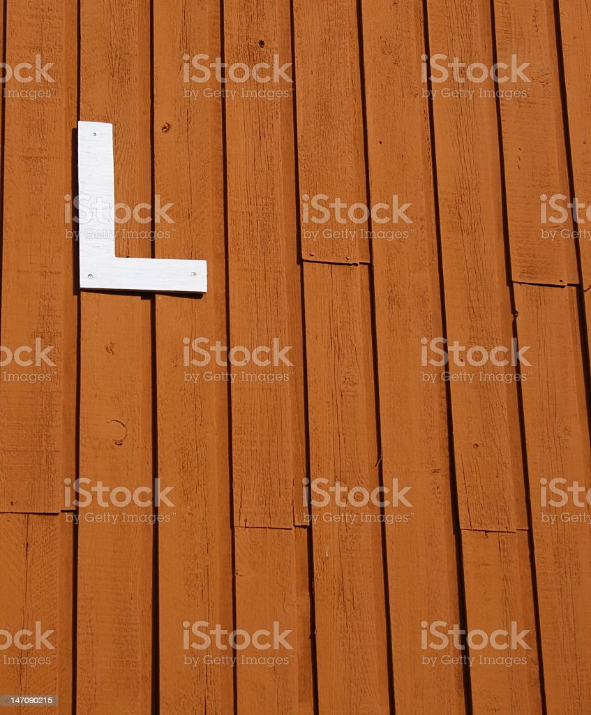 Letter 'L' royalty-free stock photo