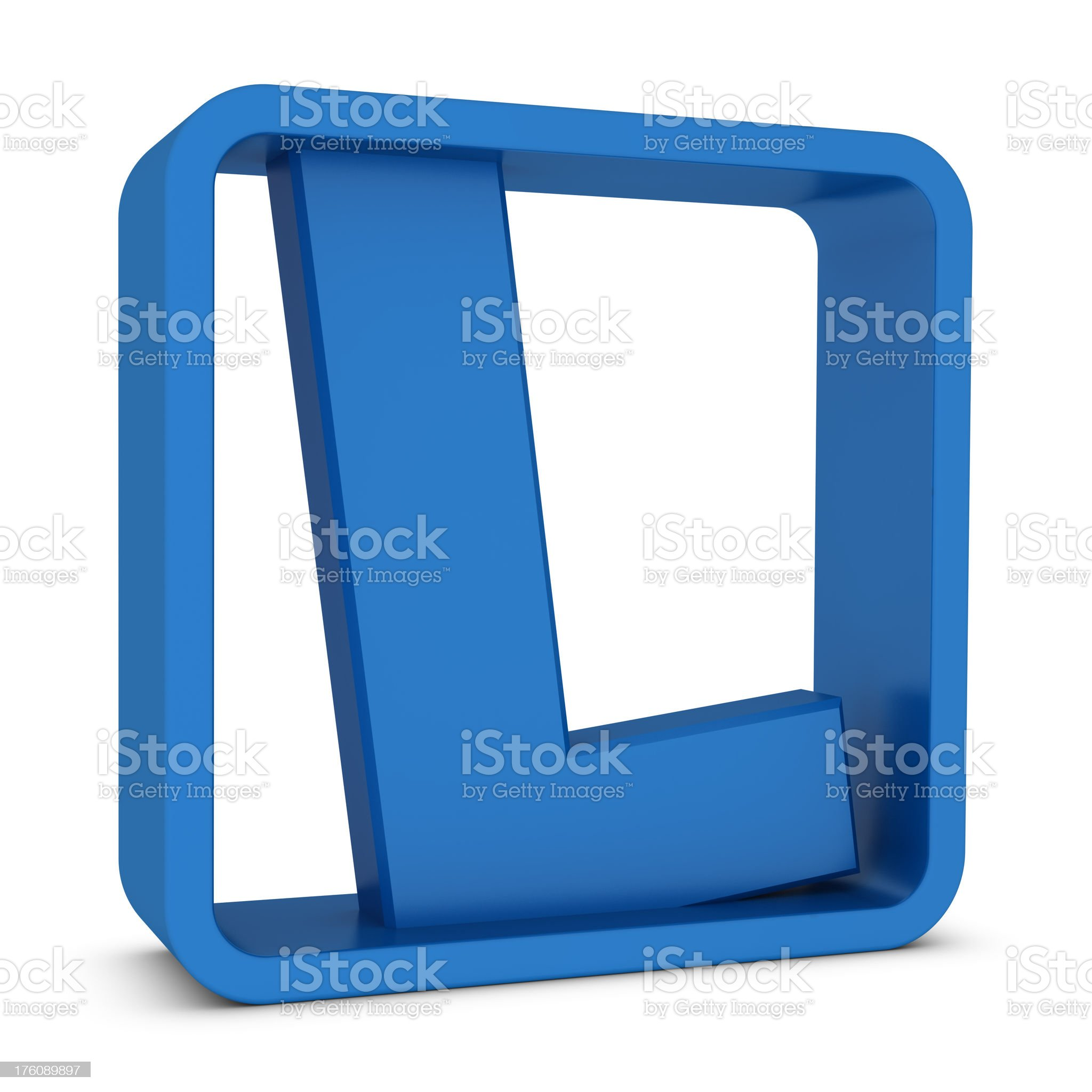 Letter L royalty-free stock photo