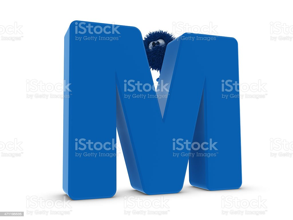 Letter M and Sphefur royalty-free stock photo