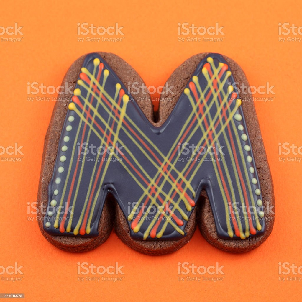 Letter M Cookie royalty-free stock photo