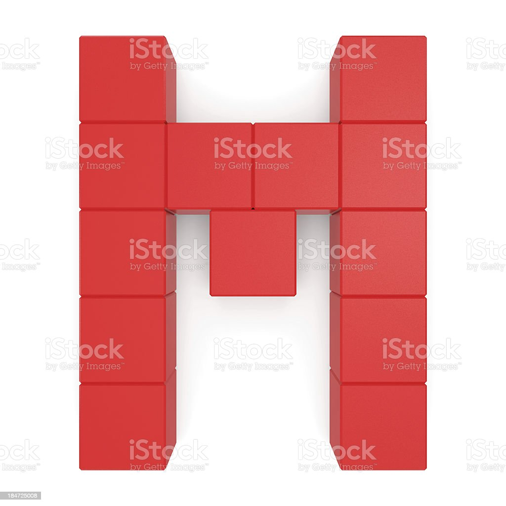 letter M cubic red royalty-free stock photo