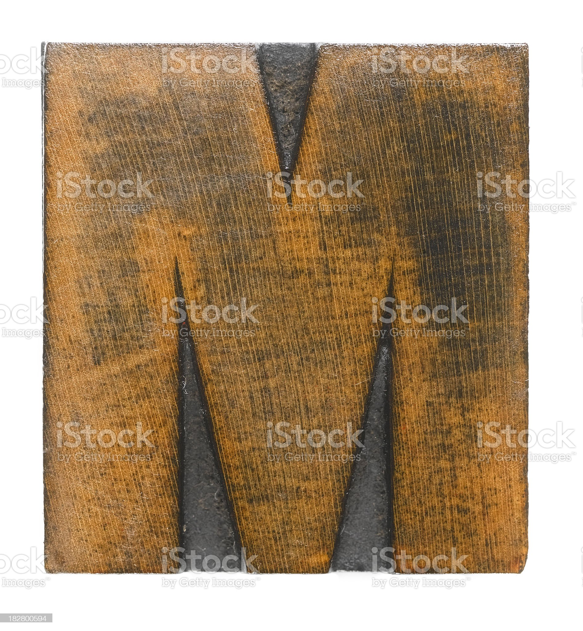 letter M royalty-free stock photo