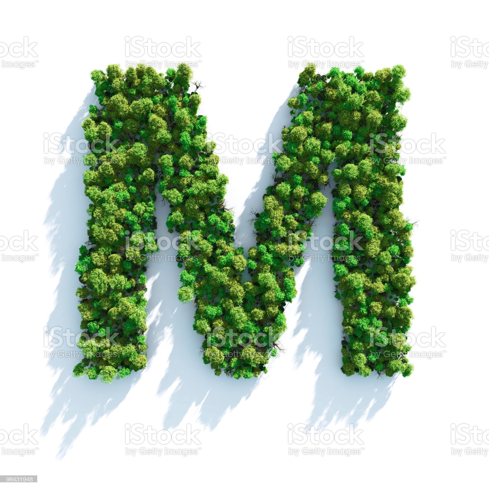 Letter M: Top View royalty-free stock photo