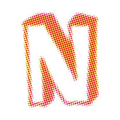 N alphabet in colour of tiranga  WWW
