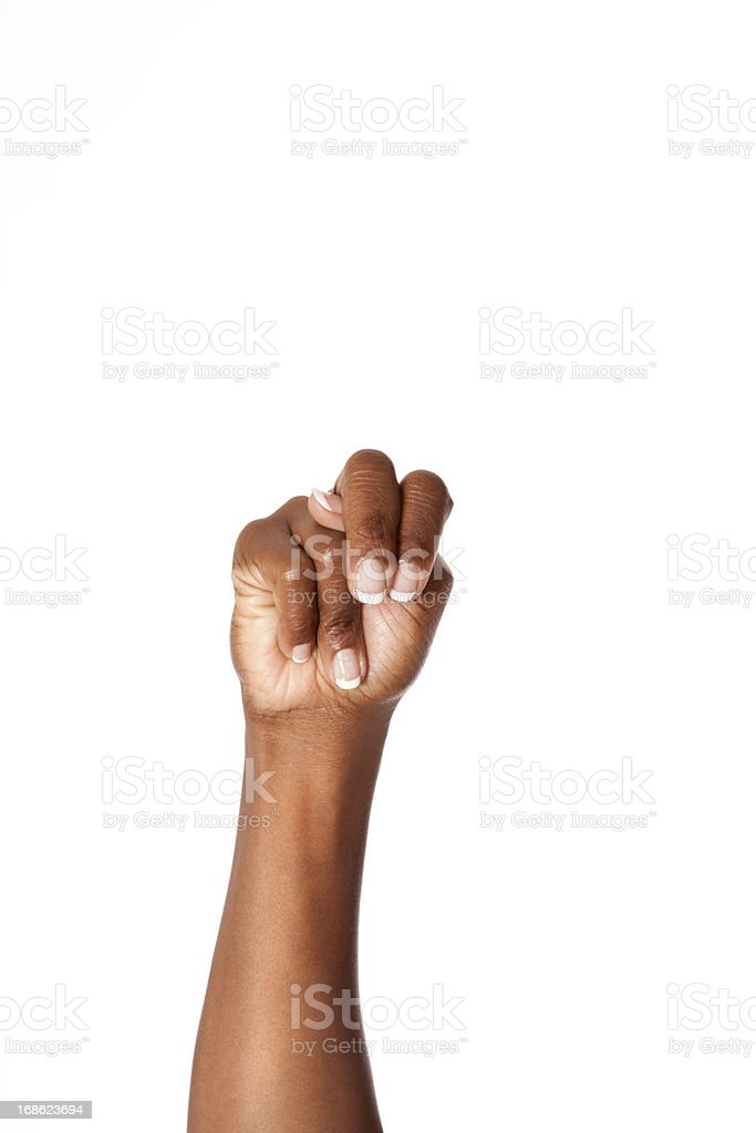 Letter N in American Sign Language stock photo