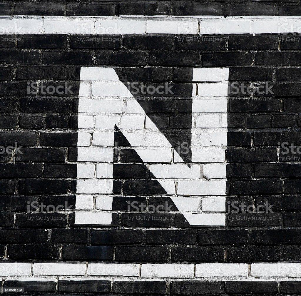 Letter 'N' stock photo