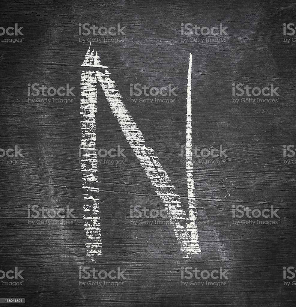 Letter N. royalty-free stock photo